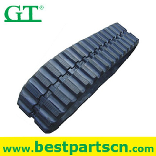 excavator rubber track undercarriage with slewing bearing