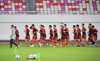 Chinese men's soccer team prepares for upcoming 2022 World Cup qualifiers
